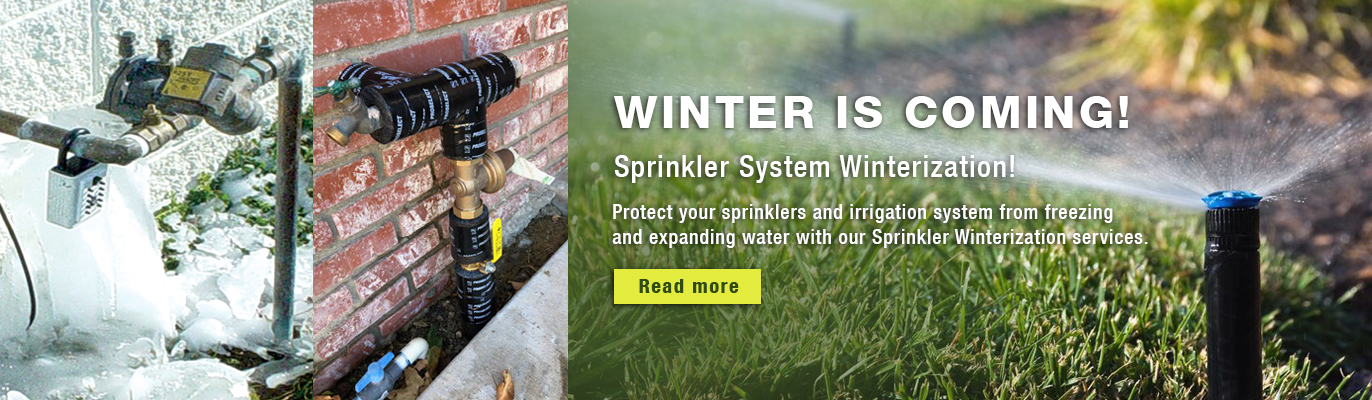 Protect your sprinklers and irrigation system from freezing and expanding water with our Sprinkler Winterization services.